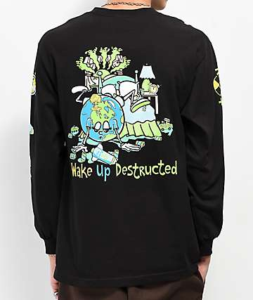 Teenage Wake Of Destruction Black Long Sleeve T-Shirt