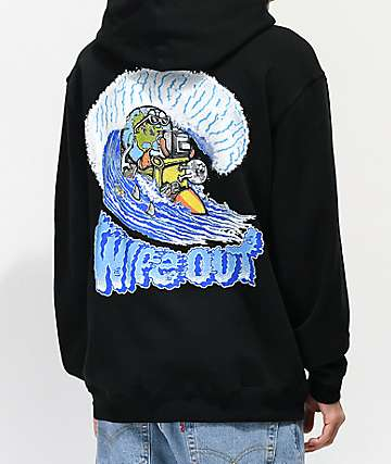 Teenage Wipe Out Black Hoodie