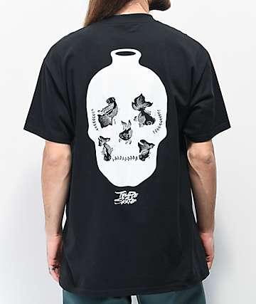 Temple Of Skate Fish Bowls Black T-Shirt