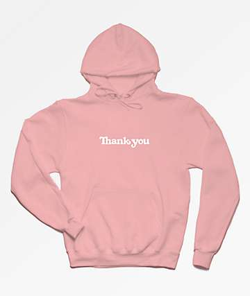 Thank You Center Pink Hoodie