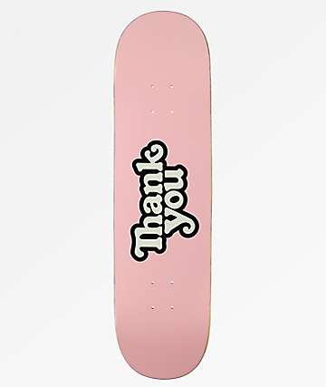 "Thank You Logo Pink 8.25"" Skateboard Deck"