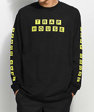 The Artist Collective Trap House Waffles Black Long Sleeve T-Shirt