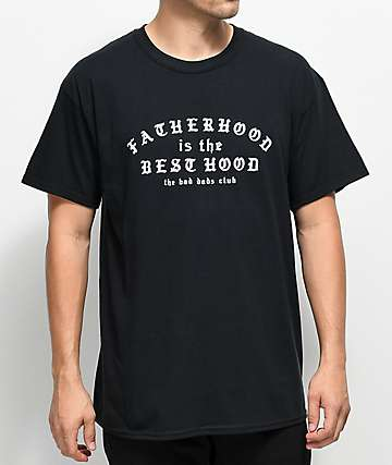 The Bad Dads Club Fatherhood camiseta negra