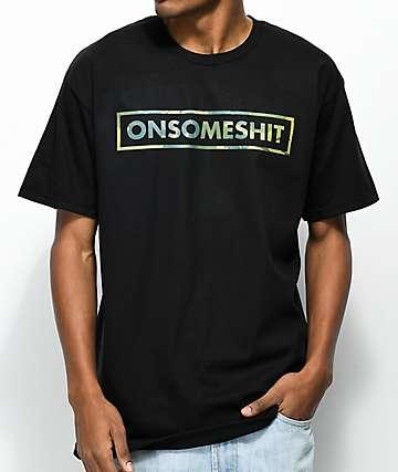The Come Up OSS Camo Box Logo camiseta negra