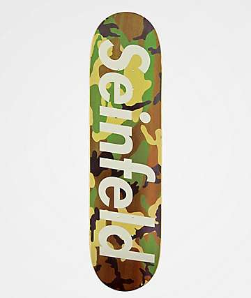 "The Friend Ship Seinfeld Camo 8.12"" Skateboard Deck"
