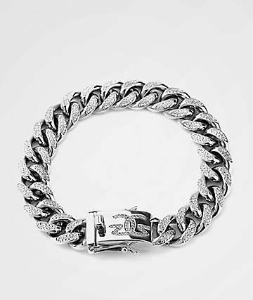 The Gold Gods 10MM Diamond Cuban Link White Gold Bracelet