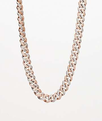 "The Gold Gods 10mm Diamond Miami Cuban 18"" 2 Tone Chain Necklace"