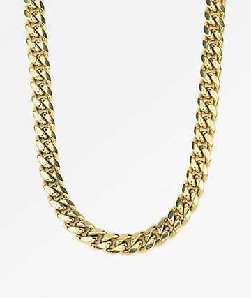 "The Gold Gods 10mm Miami Cuban 24"" collar de cadena de oro"