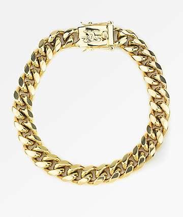 The Gold Gods 10mm Miami Cuban Link pulsera de oro