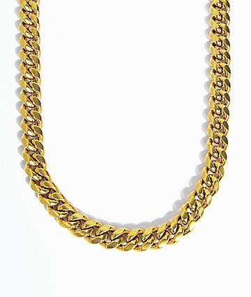 The Gold Gods 10mm collar de enlaces cubanos de Miami