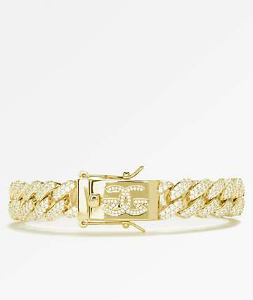 The Gold Gods 12mm Flooded Diamond Cuban Link Gold Bracelet