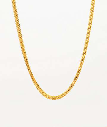 "The Gold Gods 22"" Yellow Gold Franco Box Chain Necklace"