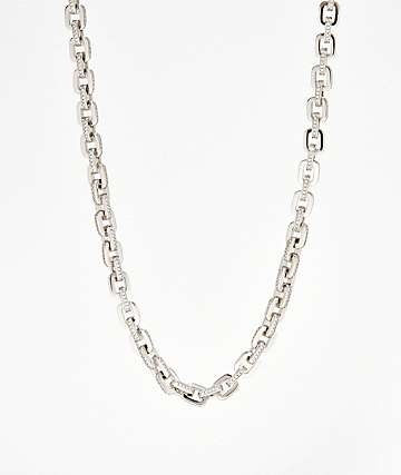 "The Gold Gods 5mm Hermes Link 18"" White Gold Chain Necklace"