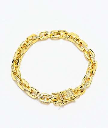 The Gold Gods 5mm Hermes Link pulsera de cadena de oro