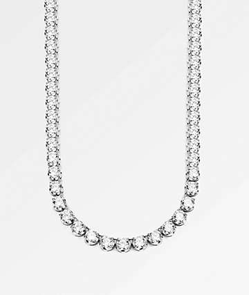 "The Gold Gods 6mm Diamond Tennis 20"" White Gold Chain Necklace"