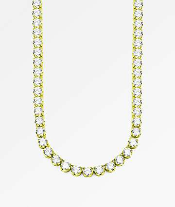 "The Gold Gods 6mm Diamond Tennis 20"" collar de cadena de oro"