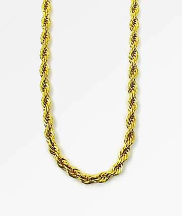 The Gold Gods 6mm Rope Chain Necklace