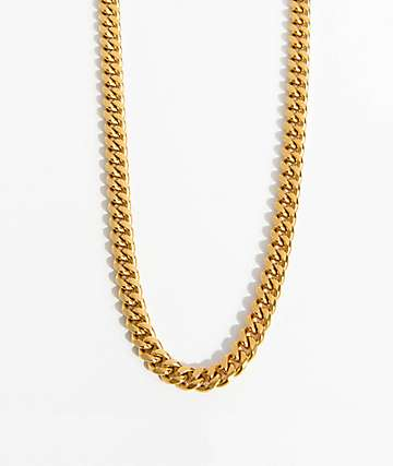 "The Gold Gods 8mm Miami Cuban Link 24"" Gold Necklace"