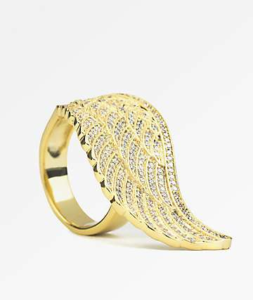 The Gold Gods Angel Wing Gold Ring