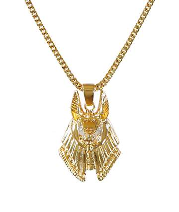 The Gold Gods Anubis Piece Necklace