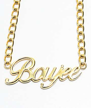 The Gold Gods Boujee Script Choker Necklace