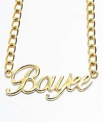 The Gold Gods Boujee Script gargantilla