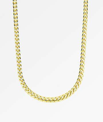 "The Gold Gods Curved Franco 6mm Gold 22"" Chain"
