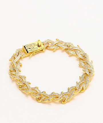 The Gold Gods Diamond Crown Of Thorns 8mm Gold Bracelet