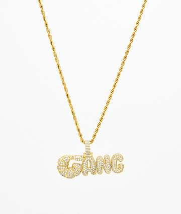 The Gold Gods Diamond Shrimp Gang Pendant Chain