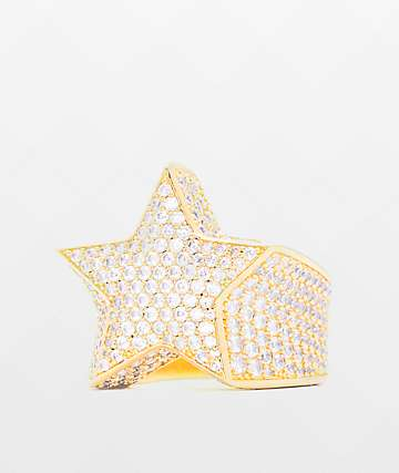 The Gold Gods Diamond Star Gold Ring