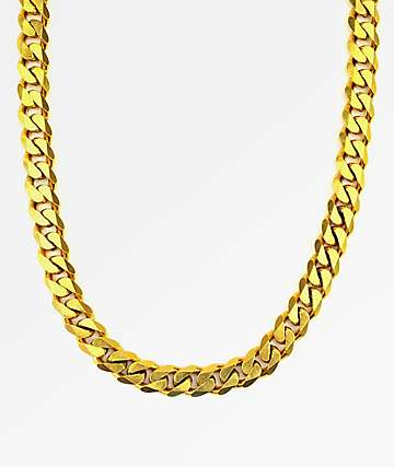 "The Gold Gods Flat Edge Cuban Link 22"" Gold Chain"