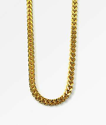 The Gold Gods Franco Box Chain Necklace