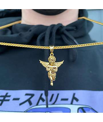 The Gold Gods Micro Angel Gold Necklace