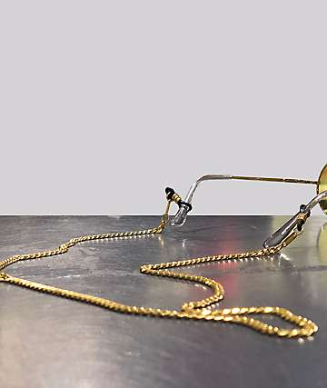The Gold Gods Micro Cuban Link Gold Glasses Chain