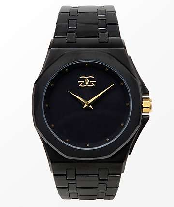 The Gold Gods Octavius Black & Gold Analog Watch