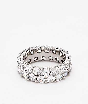 The Gold Gods Silver Dual Eternity Ring