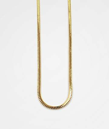 "The Gold Gods Snake Gold 30"" Box Chain Necklace"