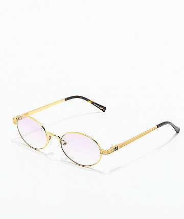 535e1a210461 The Gold Gods The Ares Gold & Pink Gradient Sunglasses