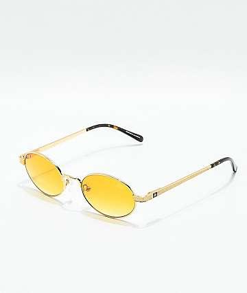 The Gold Gods The Ares gafas de sol de oro con gradiente naranja