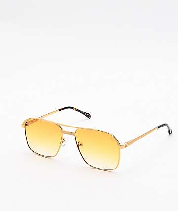 The Gold Gods The Hades Orange & Gold Sunglasses