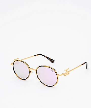The Gold Gods The Iris Dark Tort & Lavender Sunglasses