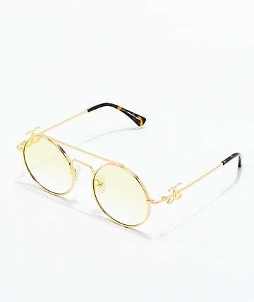 The Gold Gods Visionaries gafas de sol amarillas de oro