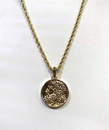 The Gold Gods Zeus Coin Pendant Necklace