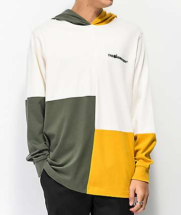 The Hundreds Abstract sudadera con capucha blanca, dorada y verde