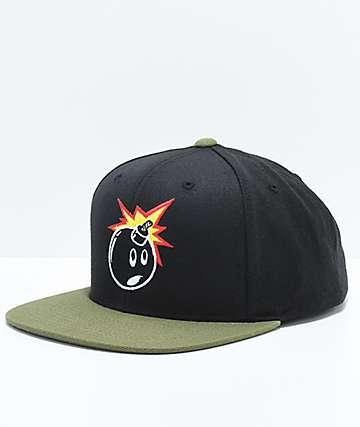 The Hundreds Adam Black & Olive Snapback Hat