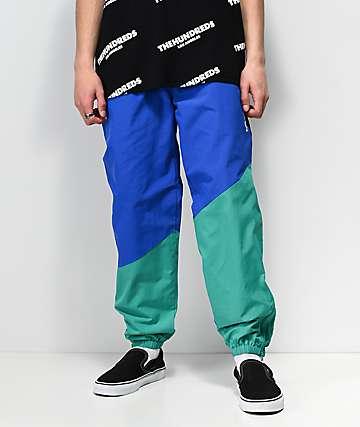 The Hundreds Angles Blue & Green Nylon Track Pants