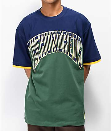 The Hundreds Arch Navy & Green T-Shirt
