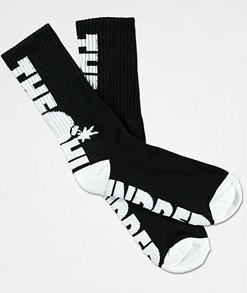 The Hundreds Bar Black Crew Socks