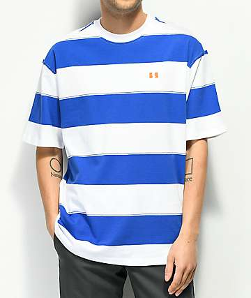 The Hundreds Bay camiseta con rayas azules y blancas