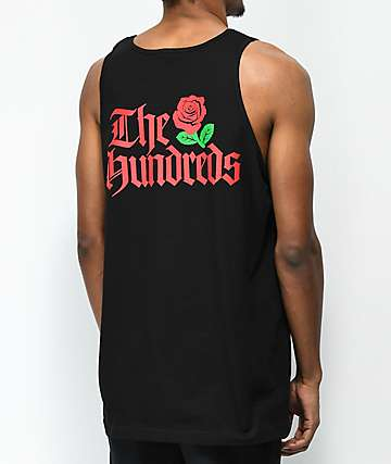 The Hundreds Big Rose Black Tank Top